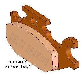 BRZDOVÉ DESTIČKY DB2400 QD-D