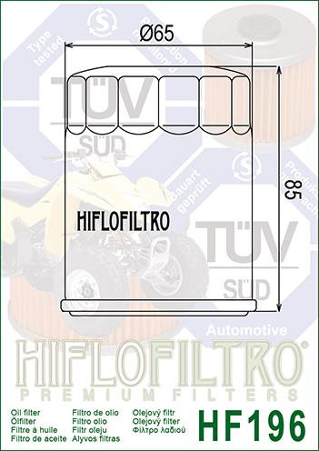 OLEJOVÝ FILTR HF196