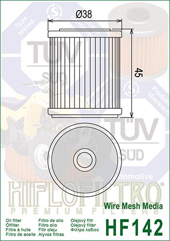 OLEJOVÝ FILTR HF142