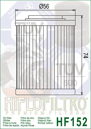 OLEJOVÝ FILTR HF152