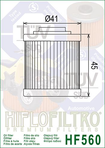 OLEJOVÝ FILTR HF560