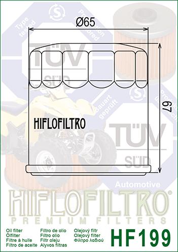 OLEJOVÝ FILTR HF199
