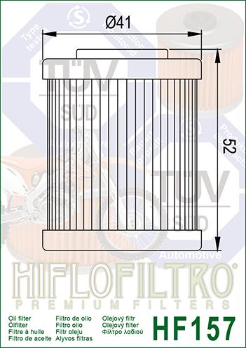 OLEJOVÝ FILTR HF157