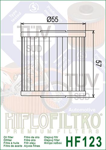 OLEJOVÝ FILTR HF123